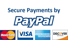 secure payments by paypal and credit card